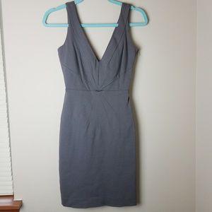 Banana Republic Deep V Neck Form Fitting Dress